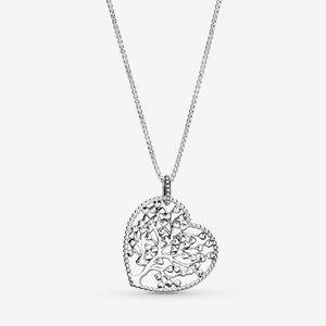 ❣️Pandora  Family Tree Heart Pendant Necklace